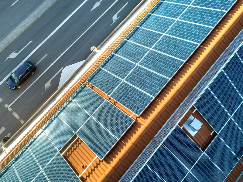 Solar Panels Malaga S.L. Drone Shot. From A Pretty Hit Roof