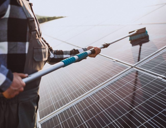 Solar Panels Malaga S.L. Team Make Sure We Are Clean After We Finish A Job.